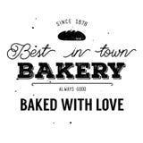 Σχέδιο ετικετών αρτοποιείων Στοκ φωτογραφία με δικαίωμα ελεύθερης χρήσης
