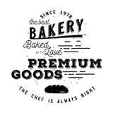 Σχέδιο ετικετών αρτοποιείων Στοκ εικόνες με δικαίωμα ελεύθερης χρήσης
