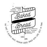 Σχέδιο ετικετών αρτοποιείων Στοκ Φωτογραφίες