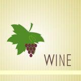 Σχέδιο ετικετών κρασιού Στοκ εικόνα με δικαίωμα ελεύθερης χρήσης