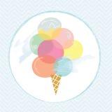 Σχέδιο ετικετών παγωτού για το καλοκαίρι διανυσματική απεικόνιση