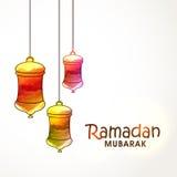 Σχέδιο ευχετήριων καρτών για Ramadan Μουμπάρακ Στοκ εικόνες με δικαίωμα ελεύθερης χρήσης