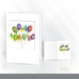 Σχέδιο ευχετήριων καρτών, πρότυπο Στοκ Εικόνες
