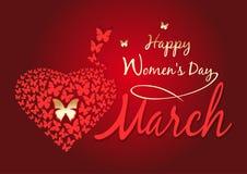 Σχέδιο ημέρας γυναικών Ημέρα των ευτυχών γυναικών 8 Μαρτίου χαιρετισμός καλή χρονιά καρτών του 2007 Στοκ Φωτογραφία