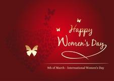 Σχέδιο ημέρας γυναικών 8 Μαρτίου Ημέρα των ευτυχών γυναικών Κυματίζοντας λόφος Στοκ εικόνες με δικαίωμα ελεύθερης χρήσης