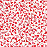 Σχέδιο ημέρας Valentine's με τις καρδιές Διανυσματική απεικόνιση