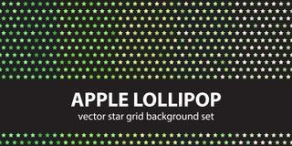Σχέδιο η καθορισμένη Apple Lollipop αστεριών Στοκ εικόνες με δικαίωμα ελεύθερης χρήσης