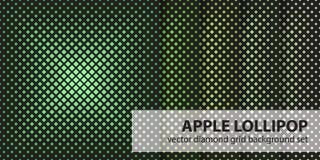 Σχέδιο η καθορισμένη Apple Lollipop διαμαντιών Διανυσματικά άνευ ραφής γεωμετρικά υπόβαθρα Στοκ Φωτογραφίες