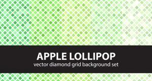 Σχέδιο η καθορισμένη Apple Lollipop διαμαντιών Διανυσματικό άνευ ραφής γεωμετρικό BA Στοκ Φωτογραφία