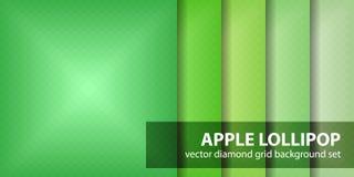 Σχέδιο η καθορισμένη Apple Lollipop διαμαντιών Στοκ εικόνα με δικαίωμα ελεύθερης χρήσης
