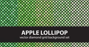 Σχέδιο η καθορισμένη Apple Lollipop διαμαντιών Στοκ Φωτογραφία