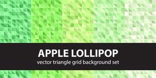 Σχέδιο η καθορισμένη Apple Lollipop τριγώνων Διανυσματικά άνευ ραφής γεωμετρικά υπόβαθρα Στοκ Εικόνα