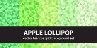 Σχέδιο η καθορισμένη Apple Lollipop τριγώνων Διανυσματικό άνευ ραφής γεωμετρικό β Στοκ Φωτογραφία