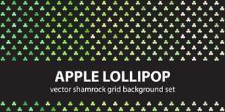 Σχέδιο η καθορισμένη Apple Lollipop τριφυλλιών Στοκ Εικόνες