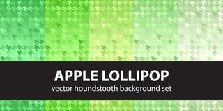 Σχέδιο η καθορισμένη Apple Lollipop Houndstooth Στοκ εικόνα με δικαίωμα ελεύθερης χρήσης