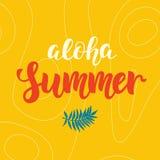 Σχέδιο θερινών σύγχρονο αφισών Aloha Στοκ φωτογραφία με δικαίωμα ελεύθερης χρήσης