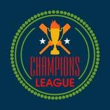 Σχέδιο διακριτικών για το γρύλο Champions League Στοκ Φωτογραφίες