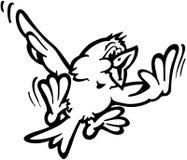 Σχέδιο διανυσματικό Clipart κινούμενων σχεδίων πουλιών πετάγματος Στοκ Φωτογραφία