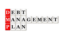 Σχέδιο διαχείρισης χρέους Στοκ εικόνα με δικαίωμα ελεύθερης χρήσης