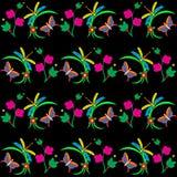 Σχέδιο λιβελλουλών και πεταλούδων Στοκ φωτογραφία με δικαίωμα ελεύθερης χρήσης