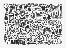 Σχέδιο δικτύων Doodle Στοκ εικόνα με δικαίωμα ελεύθερης χρήσης