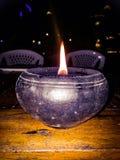 Σχέδιο λιμένων κεριών για το ρομαντικό γεύμα στην υπηρεσία εστιατορίων Στοκ εικόνα με δικαίωμα ελεύθερης χρήσης