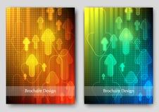 Σχέδιο ιπτάμενων προτύπων φυλλάδιων Στοκ Εικόνες