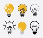 Σχέδιο ιδέας βολβών διανυσματική απεικόνιση