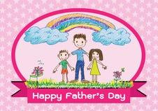 Σχέδιο ιδέας καρτών ημέρας του ευτυχούς πατέρα απεικόνιση αποθεμάτων