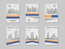 Σχέδιο κάλυψης αρχιτεκτονικής Στοκ Εικόνα