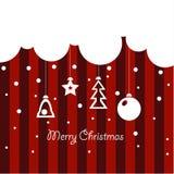Σχέδιο κάλυψης για τις ευχετήριες κάρτες Χριστουγέννων Στοκ Φωτογραφία