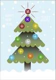 Σχέδιο κάλυψης για τις ευχετήριες κάρτες Χριστουγέννων Στοκ Εικόνες