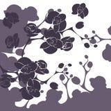 Σχέδιο κάλυψης διακοσμήσεων ορχιδεών λουλουδιών Στοκ Εικόνες