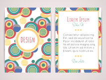 Σχέδιο κάλυψης με το αφηρημένο γεωμετρικό σχέδιο Ζωηρόχρωμες στρογγυλές μορφές Επίπεδοι κύκλοι χρώματος Στοκ Φωτογραφία