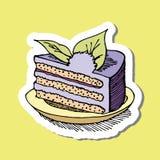 Σχέδιο κέικ κινούμενων σχεδίων Στοκ φωτογραφία με δικαίωμα ελεύθερης χρήσης