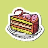 Σχέδιο κέικ κινούμενων σχεδίων Στοκ εικόνα με δικαίωμα ελεύθερης χρήσης