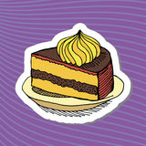 Σχέδιο κέικ κινούμενων σχεδίων Στοκ εικόνες με δικαίωμα ελεύθερης χρήσης