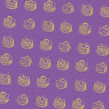 Σχέδιο κέικ κινούμενων σχεδίων Στοκ Εικόνες
