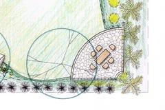 Σχέδιο κήπων κατωφλιών στο σχέδιο διανυσματική απεικόνιση