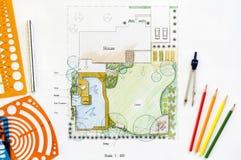 Σχέδιο κήπων κατωφλιών διανυσματική απεικόνιση