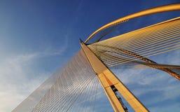 Σχέδιο και σχέδιο της γέφυρας Στοκ Εικόνα