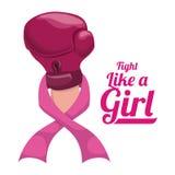 Σχέδιο καρκίνου του μαστού, διανυσματική απεικόνιση Στοκ Εικόνες