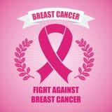 Σχέδιο καρκίνου του μαστού διανυσματική απεικόνιση