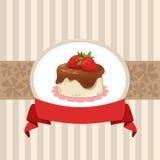Σχέδιο καρτών με το cupcake Στοκ Εικόνες