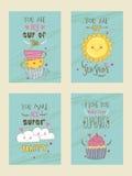 Σχέδιο καρτών χαιρετισμού ή πρόσκλησης στο ύφος doodle Στοκ Εικόνες