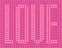 Σχέδιο καρδιών αγάπης Στοκ εικόνα με δικαίωμα ελεύθερης χρήσης