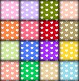 Σχέδιο καρδιών στο ζωηρόχρωμο υπόβαθρο Στοκ φωτογραφίες με δικαίωμα ελεύθερης χρήσης