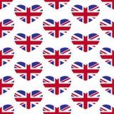 Σχέδιο καρδιών του Union Jack Στοκ Εικόνες