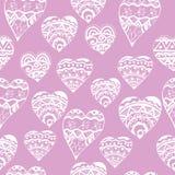 Σχέδιο καρδιών Zentangl Στοκ Φωτογραφίες