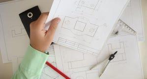 Σχέδιο κατασκευής Στοκ Εικόνες